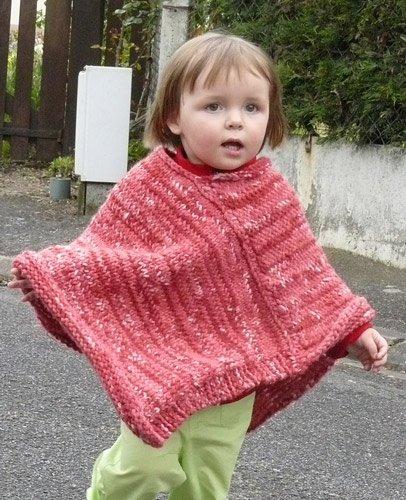 modele tricot poncho enfant